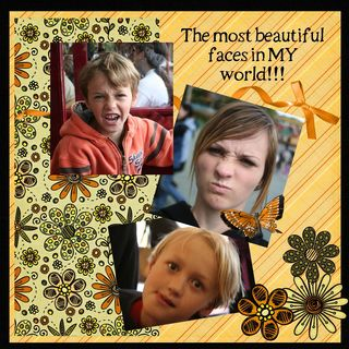 Beautiful faces scrap page