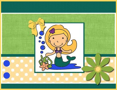 530 post card mermaid