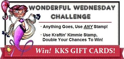 Kraftin Kimmie Wednesday Challenge Graphic with Banner any stamp 1.6
