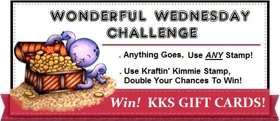 Kraftin Kimmie Wednesday Challenge Graphic with Banner any stamp 1.8
