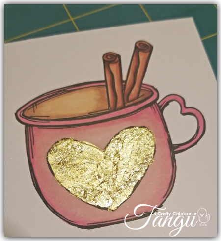 1 Cup with Gilding flakes